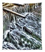 Winter Waterfall 2 Tapestry