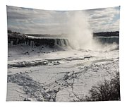 Winter Wonderland - Spectacular Niagara Falls Ice Buildup  Tapestry