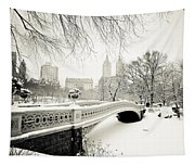 Winter's Touch - Bow Bridge - Central Park - New York City Tapestry