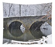 Wintertime At Bells Mill Road Tapestry