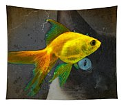 Wishful Thinking - Cat And Fish Art By Sharon Cummings Tapestry