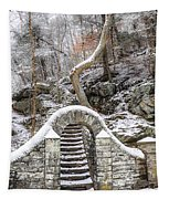 Wissahickon Steps In The Snow Tapestry
