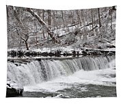 Wissahickon Waterfall In Winter Tapestry