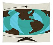 Witco World Map Tapestry