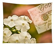 With God All Things Are Possible Tapestry