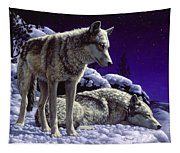 Wolf Painting - Night Watch Tapestry