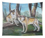 Wolves In The Forest Tapestry