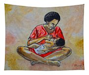 Woman And Child Tapestry