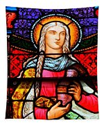Woman In Braids Tapestry