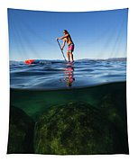 Woman Paddleboarding In The Lake, Lake Tapestry