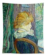 Woman Sitting In A Garden Tapestry