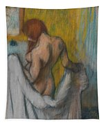 Woman With A Towel Tapestry