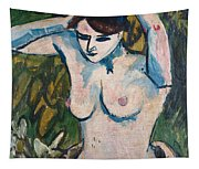 Woman With Raised Arms Tapestry