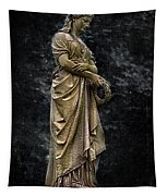 Woman With Wreath Tapestry