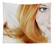 Womans Face Tapestry