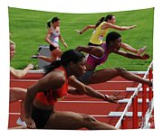Womens Hurdles 3 Tapestry