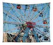 Wonder Wheel Of Coney Island Tapestry