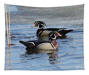 Wood Duck Drake Pair Tapestry