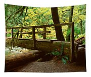 Wooden Bridge In The Hoh Rainforest Tapestry