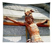 Wooden Jesus Tapestry