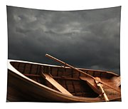 Wooden Rowboat Tapestry