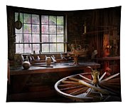 Woodworker - The Wheelwright Shop  Tapestry
