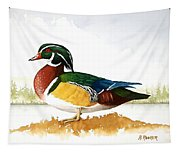 Woody On The Lake Tapestry