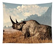 Woolly Rhino And A Marmot Tapestry