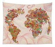 Word Map Digital Art Tapestry