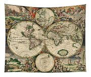 World Map 1689 Tapestry