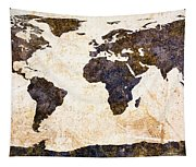 World Map Abstract Tapestry