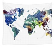World Map Cosmos Tapestry