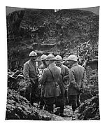 World War I Trench - To License For Professional Use Visit Granger.com Tapestry by Granger