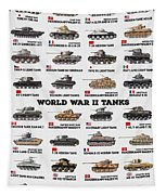 World War II Tanks Tapestry