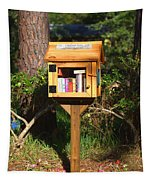 World's Smallest Library Tapestry