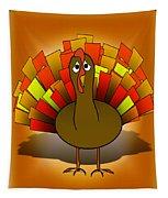 Worried Turkey Illustration Tapestry