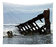 Wreck Of The Peter Iredale Tapestry