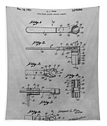 Wrench Patent Drawing Tapestry