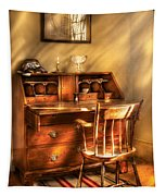 Writer - A Chair And A Desk Tapestry