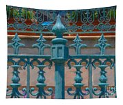 Wrought Iron Fence Tapestry