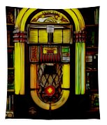 Wurlitzer 1946 Jukebox - Featured In Comfortable Art Group Tapestry