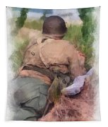 Ww II Us Army Soldier Photo Art Tapestry