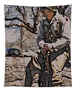 Wwii Soldier Two Tapestry