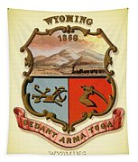 Wyoming Coat Of Arms - 1876 Tapestry