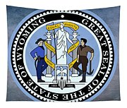 Wyoming State Seal Tapestry