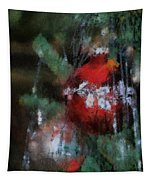 Xmas Red Ornament Photo Art 03 Tapestry