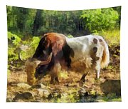 Yak Having A Snack Tapestry