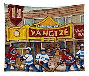 Yangtze Restaurant With Van Horne Bagel And Hockey Tapestry