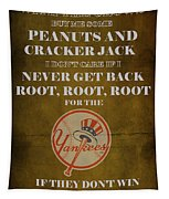 Yankees Peanuts And Cracker Jack  Tapestry