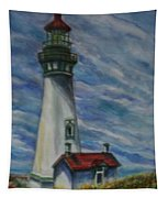 Yaquina Head Lighthouse Original Painting Tapestry